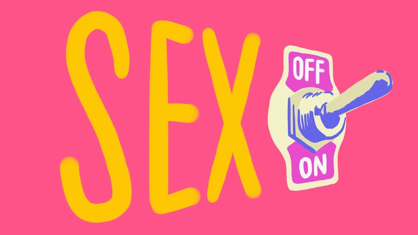 The words sex spelled out with an on and off switch