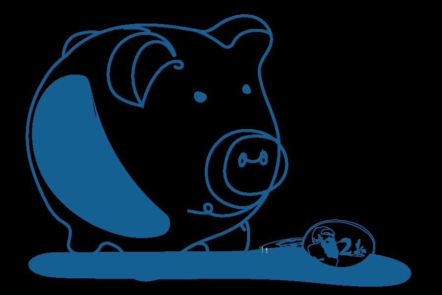 An illustration of a piggy bank.