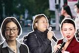洛伊研究院研究员徐元敬博士、澳大利亚一家独立资深社会调研机构创办人Isabel Zhang和前香港记者,澳港联代表Jane Poon女士参与直播.