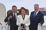 Ms Gillard will be briefed by US ambassador Kim Beazley before starting her busy schedule.