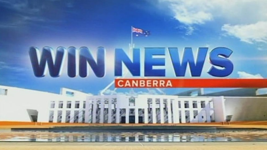 WIN TV News Canberra graphic generic. Taken June 25, 2013.