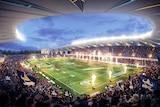Concept design of Townsville's new north Queensland stadium, released in December 2016