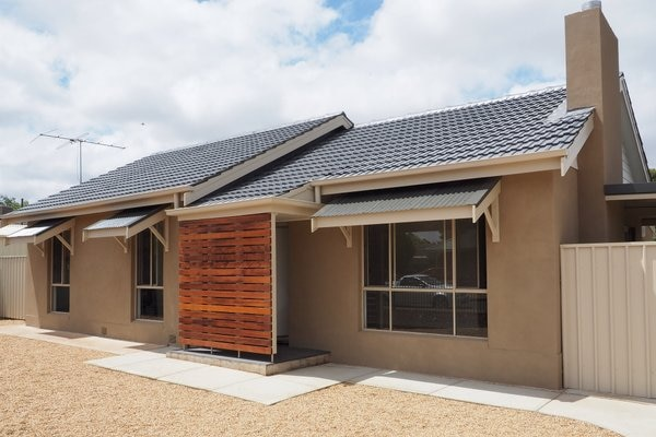 The frontage of a home in Elizabeth Downs, South Australia after it has been renovated