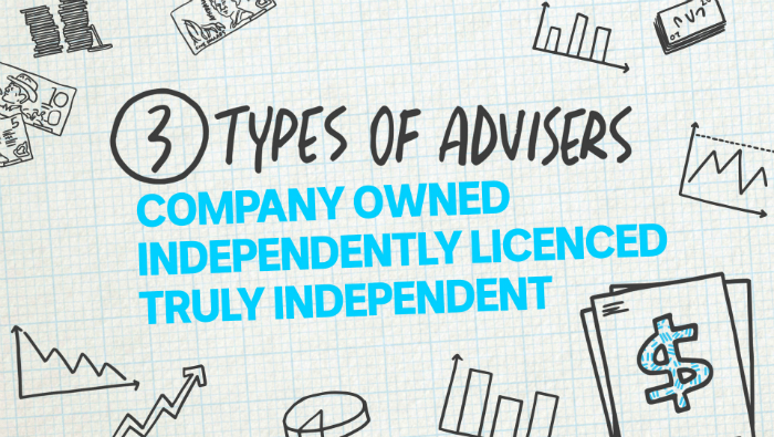 There are three types of financial advisers.