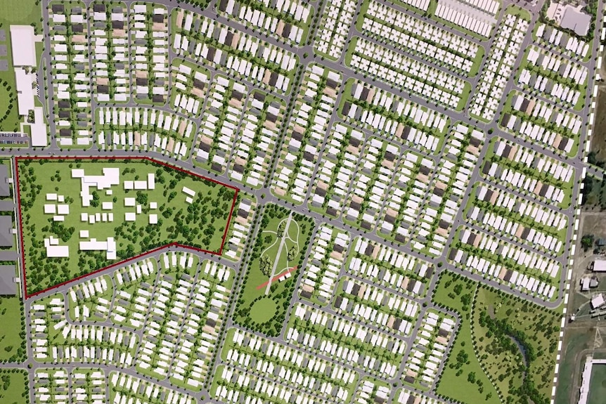 An animated map shows Berrimah Farm will be surround by housing.
