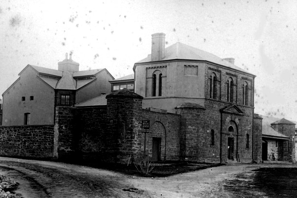 Old gaol, 1894, photographed by Alfred Robert Linus Wright.