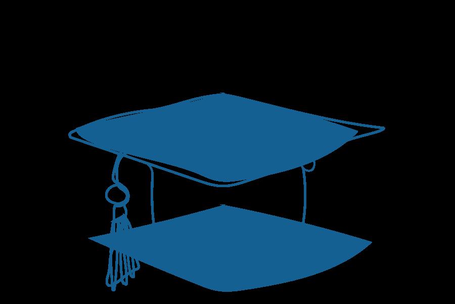 An illustration of a graduation cap.