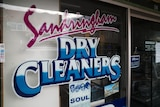 Signage saying Sandringham Dry Cleaners.