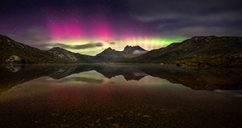 Cradle Mountain aurora