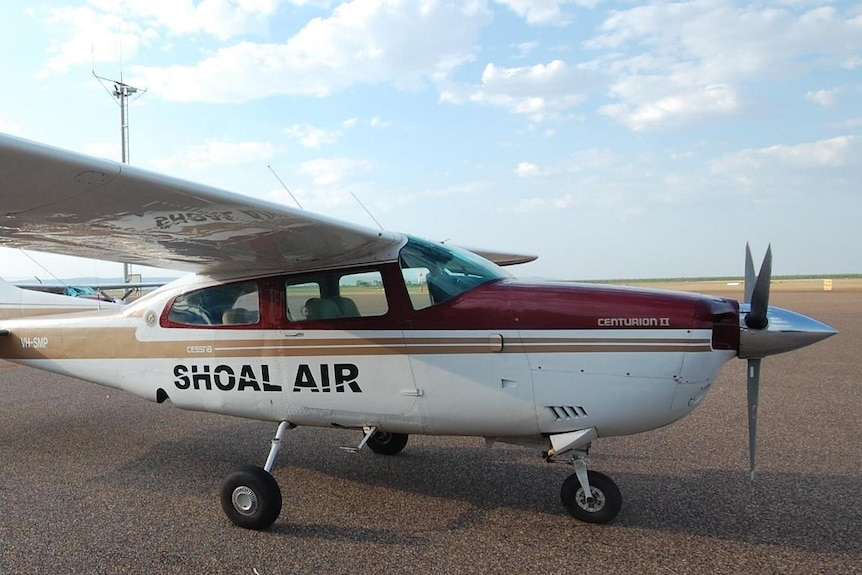 light aircraft plane at the airport