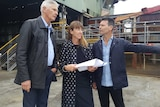 Graeme Wood, with architects Rachel Neeson and Stephen Neille