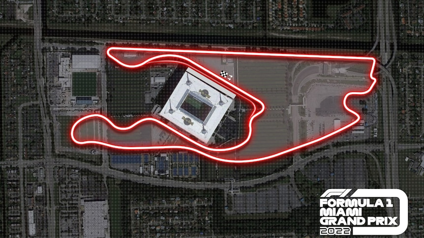 The new circuit at Miami, Florida, USA, which will be used in the 2022 season.
