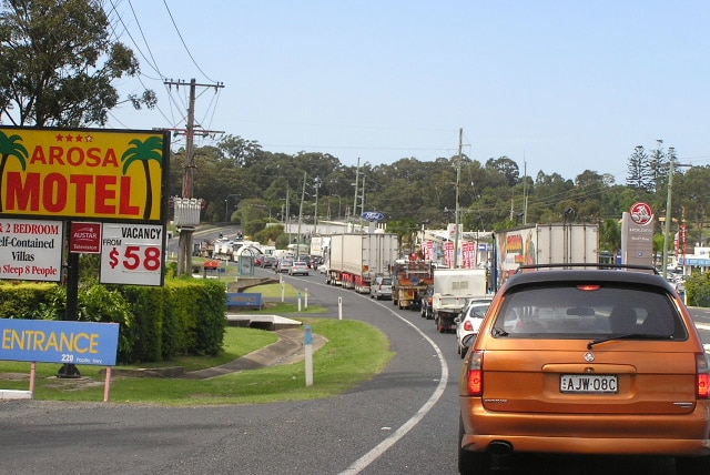 Traffic delays through Coffs Harbour, NSW (File photograph)