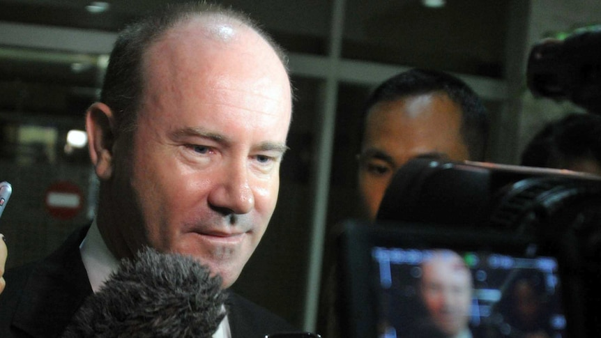 Greg Moriarty emerges from Indonesia's Foreign Ministry