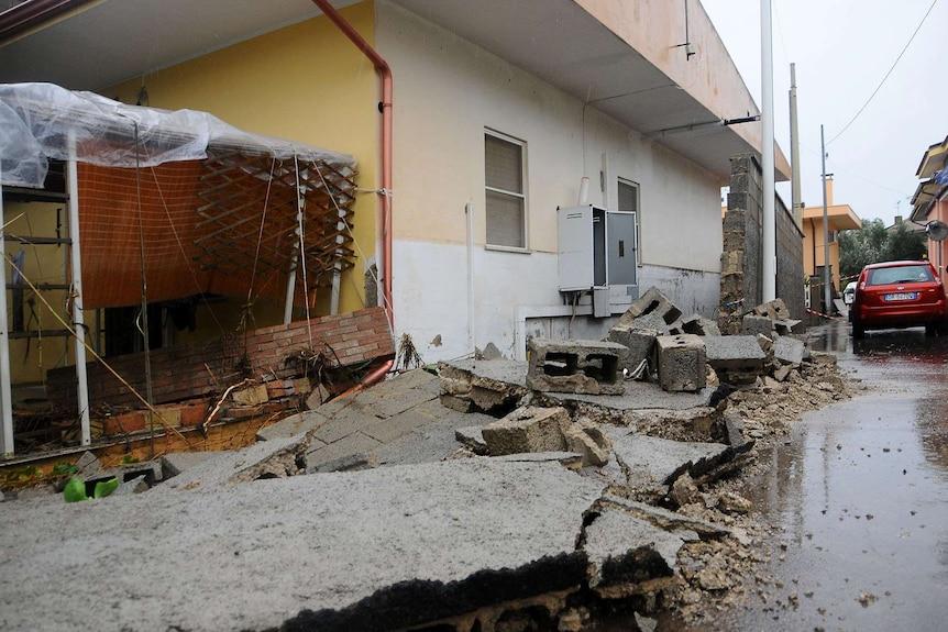 Flood damage in Sardinia after Cyclone Cleopatra