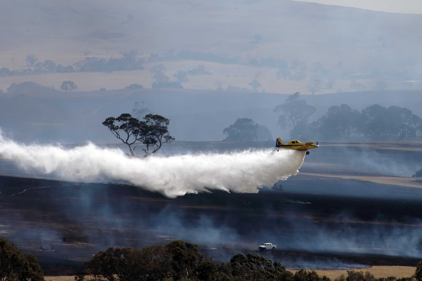 Firefighting aircraft at Moyston