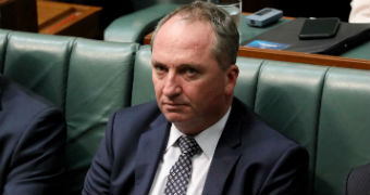 Barnaby Joyce looking tired in the House of Representatives.