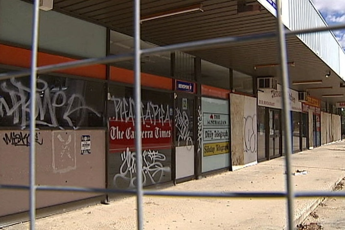 The Giralang shops have been abandoned since 2004.