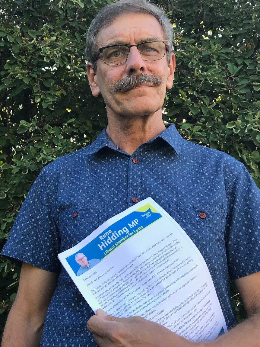 Peter James holds a letter from the Liberal party.