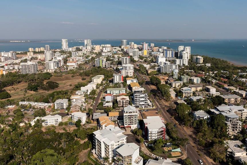 Aerial view of Darwin's CBD.
