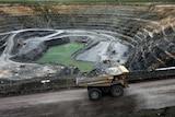 A truck drive inside the Ranger Uranium Mine site.
