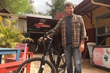Tyalgum Energy Project leader Andrew Price with a solar-powered electric bike