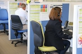 Lifeline counsellors at work on the phones good generic WA.