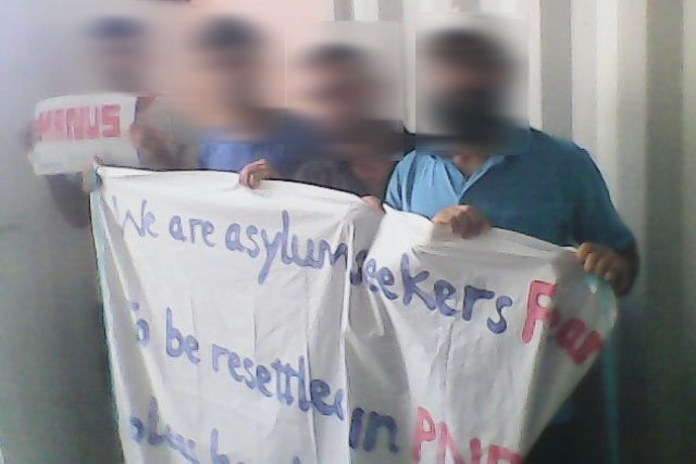 Asylum seekers protest on Manus Island