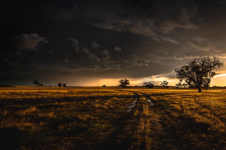 Stormy sky at dusk over Woodanilling, WA