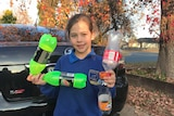 Lilly Trevaskis-Charlton is using the container deposit scheme to her advantage