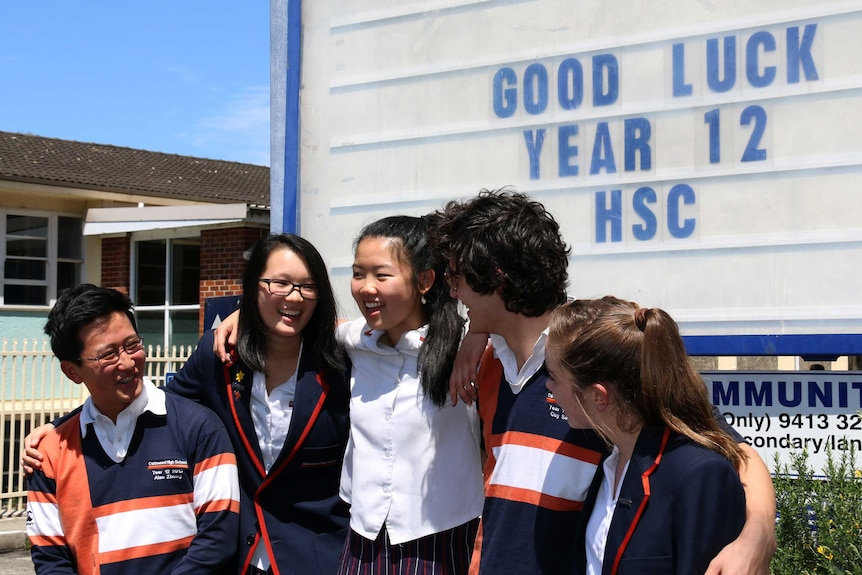 Chatswood High School year 12 students begin the first day of HSC exams