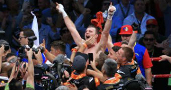Jeff Horn celebrates win over Manny Pacquiao