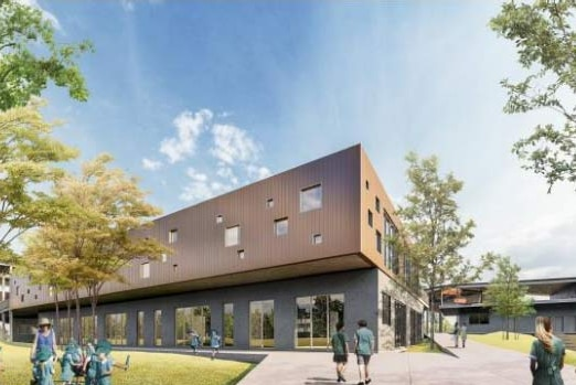 An artist's impression of a building.