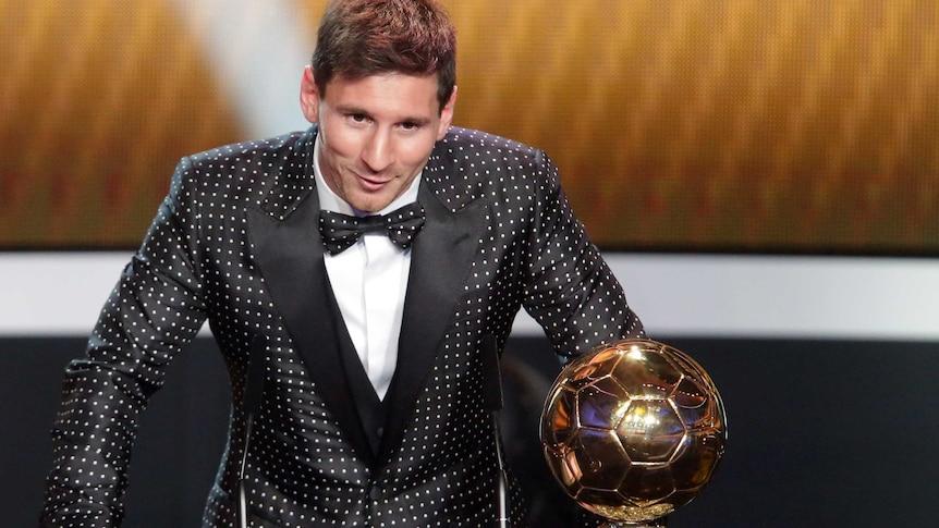 Messi accepts Ballon d'Or