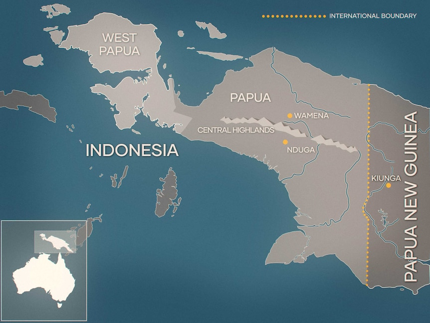 A map of eastern Indonesia.