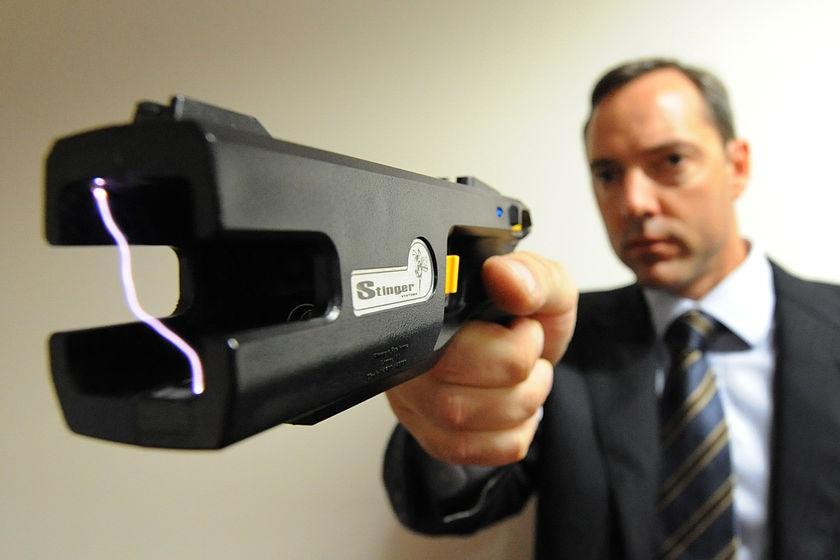 A new generation stun gun on display in Brisbane