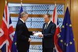 Donald Tusk receives Article 50, officially triggering Brexit.