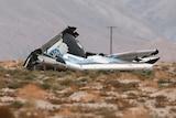 Virgin Galactic SpaceShipTwo debris at crash site