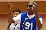 Dennis Rodman sings happy birthday to Kim Jong-un.