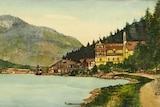 A screenshot of a watercolour painting listing by A. Hitler.