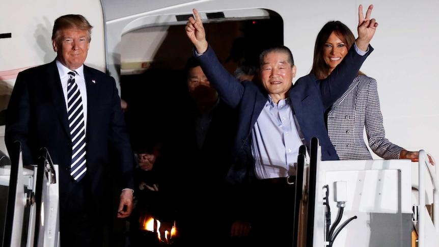 Americans imprisoned in Korea arrive on US soil (Photo: Reuters/Jim Bourg).
