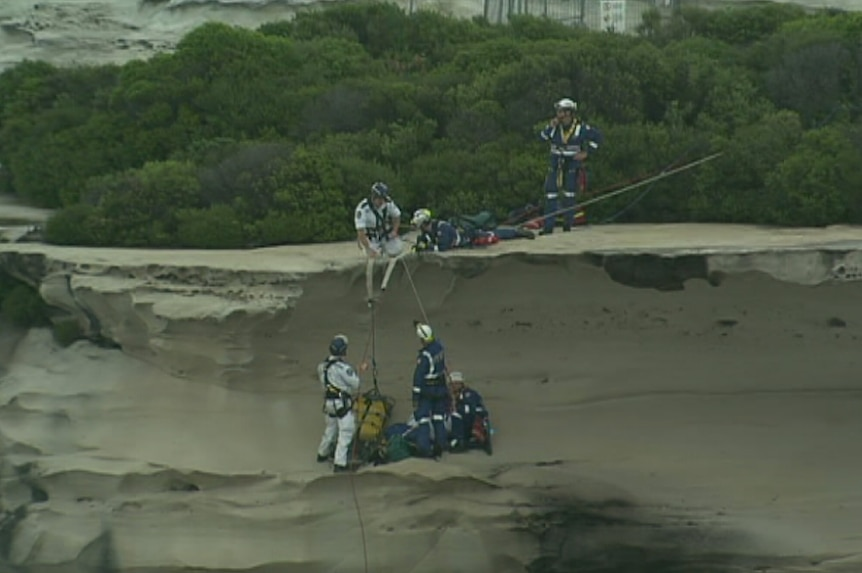Men rescued after cliff fall at Wedding Cake Rock