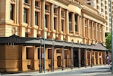 The exterior of a courthouse building in Adelaide