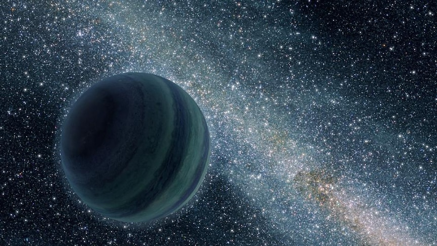 A planet set against star-filled space