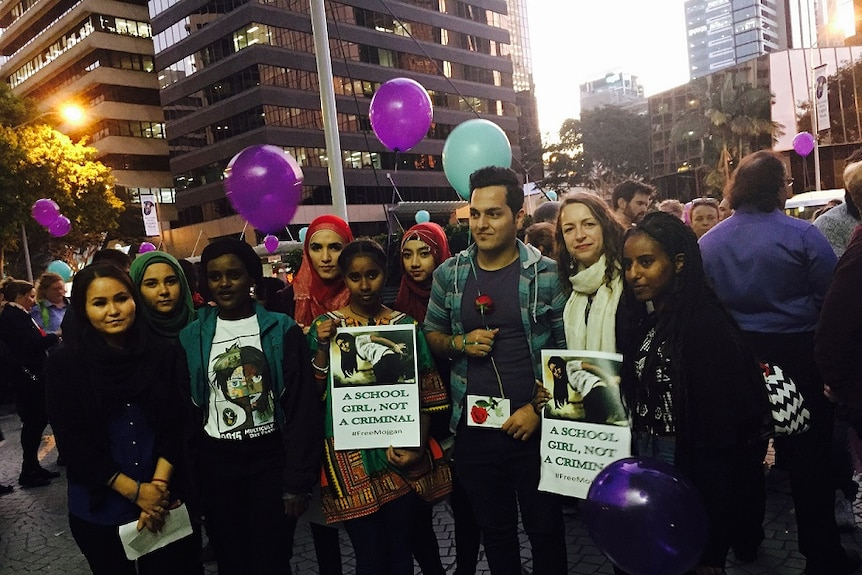 Protest to release Mojgan