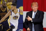 LeBron James defends Stephen Curry and President Donald Trump