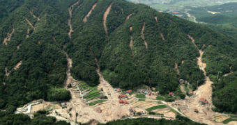 As well as the floods the rains caused devastating landslides.