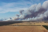 smoke rises into the sky over Stirling Range National Park