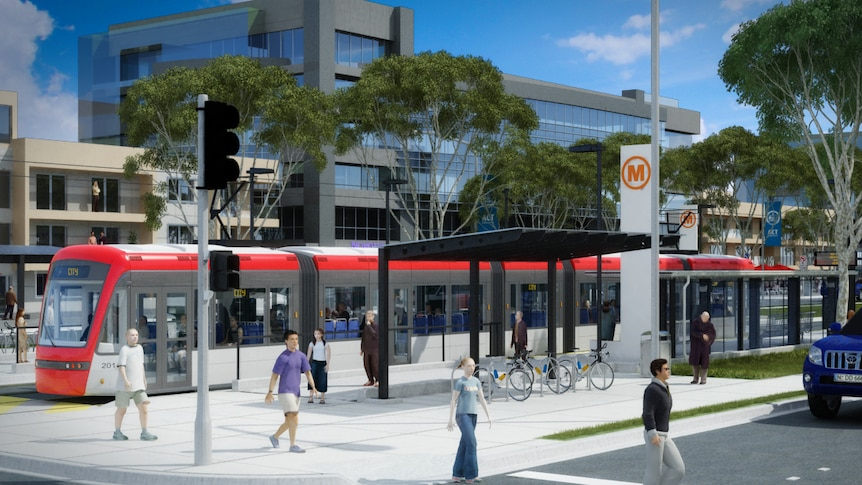 About $450 million in revenue from the sale of assets is expected to be spent on light rail.