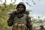 African Union troops march towards al-shabab controlled regions